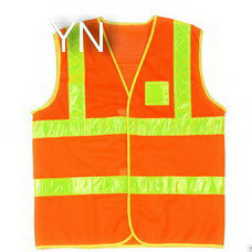 Orange Reflective Safety Vest with Pocket pictures & photos