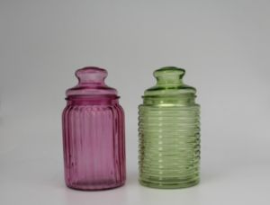 Multicolor Green Small Glass Jar pictures & photos