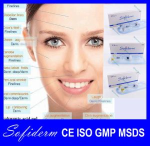 Sofiderm Hot Selling Injectable Hyaluronic Acid Dermal Filler (Finelines 2ml) pictures & photos