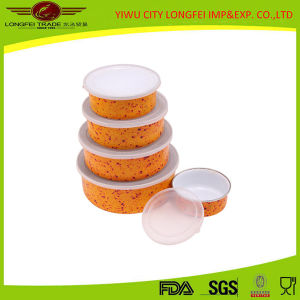 5 Sets Food Storage Container Enamel Food Bowl pictures & photos