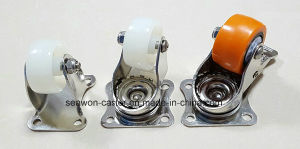 Stainless Steel Swivel with Total Brake Light Duty Nylon Caster (white) pictures & photos