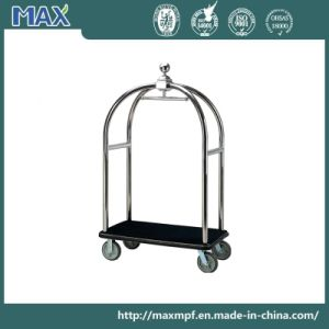 5 Star Hotel Satin Brush Finish Concierge Birdcage Trolley pictures & photos