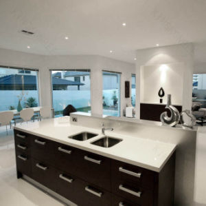 20mm Sparkle White Quartz Stone Island Countertop 170109 pictures & photos