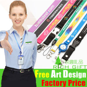 Factory Sell Office Polyester/Sublimation Lanyard with Customized Logo pictures & photos