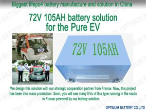 Patent PCB Packed 72V 105ah Lithium Battery for Electric Vehicle pictures & photos