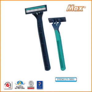 Triple New Stainless Steel Blade Disposable Shaving Razor (LV-3091) pictures & photos