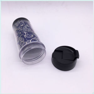 Eco Friendly BPA Free 14oz Double Wall Travel Mug, PP Double Walled Coffee Mug pictures & photos