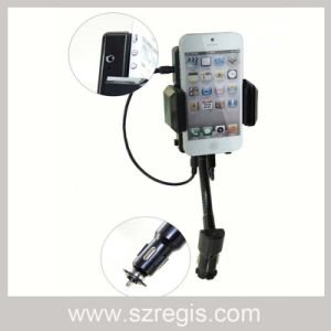 Bracket MP3 Car FM Transmitter with USB iPod and iPhone pictures & photos