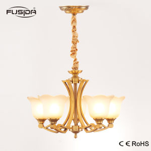 New Design Vintage Glass and Iron Material Chandelier Lighting with Bronze Color Finish Factory Price pictures & photos