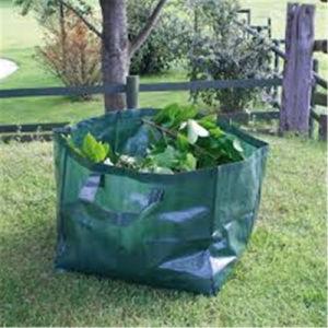 Dark Green PE Woven Waste Garden Bag pictures & photos