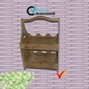 2 Tier Handmade Vintage Wooden Wine Shelf pictures & photos