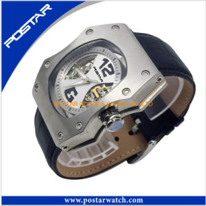 Fashion Genuine Leather Mens Waterproof Automatic Watch pictures & photos
