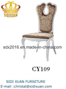 Living Room Furniture Modern Fabric Stainless Steel Banquet Wedding Dining Chair pictures & photos
