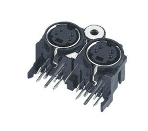 Dule /Double Mini DIN Connector (MDC2-4-001) pictures & photos