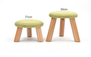 Solid Wooden Stool Round Stool Fabric Stool (M-X2103) pictures & photos