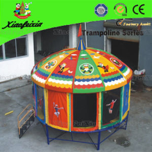 12ft Round Trampoline with Roof for Outdoor (LG062) pictures & photos