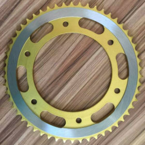 Motorcycle Sprocket-Yellow Color pictures & photos