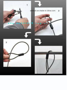 Computer Lock, Laptop Lock with Master Key, Cable Lock, (AL1000) pictures & photos