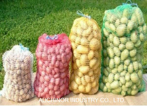 Plastic PE Raschel Mesh Net Potato Bags Mesh Bag for Vegetable and Fruit pictures & photos