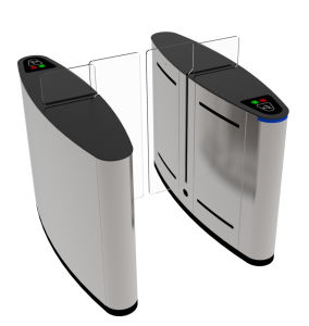 Biometric Fingerprinter Controlled Sliding Barrier Gate Turnstile TH-FSG608 pictures & photos