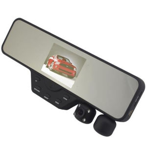 3.5 Inch HD Dual Lens Rear View Mirror and Car DVR
