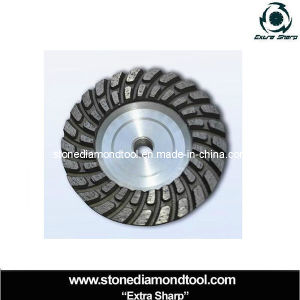 Aluminum Double Turbo Diamond Grinding Cup Wheels for Granite pictures & photos