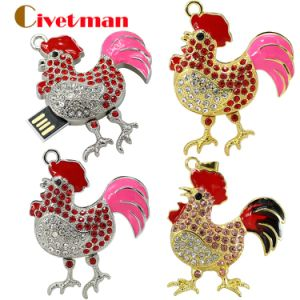 Jewelry Chicken Memory USB Flash Drive 8GB 16GB 32GB 64GB Full Capacity pictures & photos