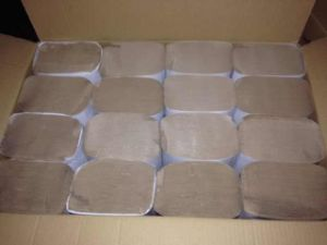 Single Fold Hand Paper Towel Brown Recycle 250 Sheets pictures & photos