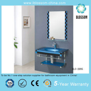 Tempered Lacqucer Glass Basin/Glass Washing Basin with Mirror (BLS-2095) pictures & photos