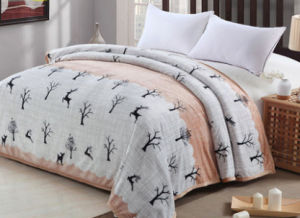 Thickening Single, Double, King Size Printed Flannel Blanket Polyester Blanket (SR-B170316-14) pictures & photos