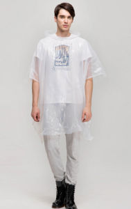 One Time Use Disposable Transparent Poncho Rain