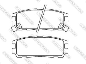D580-7460 Brake Pad for Isuzu Trooper 1991/08 - 2000/04