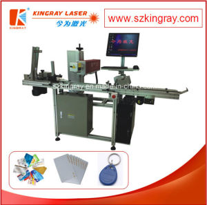 China Cards Flying Laser Marking Machine and Engraving Machine/Laser Marker Machine
