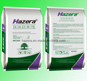 18-10-22 100% Solubility NPK Fertilizer with EDTA Trace Elements