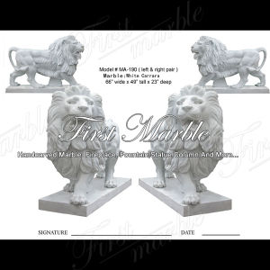White Carrara Lion for Home Decoration Ma-190