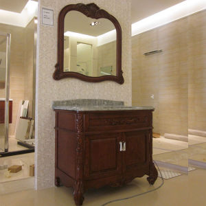 Oppein Classic Solid Wood Matte Lacquer Bathroom Cabinet (OP12-P42-103) pictures & photos