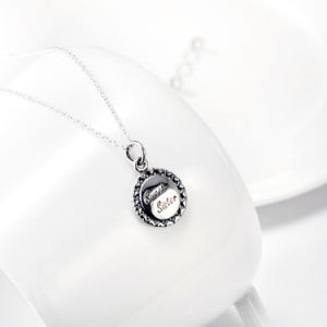 Genuine 925 Sterling Silver Sweet Sister Love Round Pendant Necklace for Women Best Gifts for Women pictures & photos