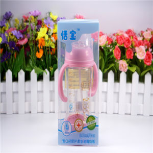 240ml Crystal Diamond Baby Glass Bottle with Bottom Set pictures & photos