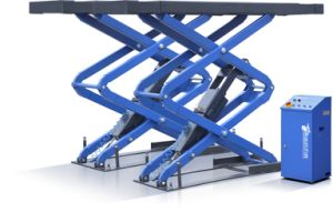 Full Rise Scissor Car Lift in Mounting