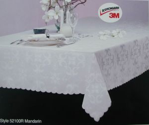 Jacquard Fabric Tablecloth Waterproof T-P-002 pictures & photos
