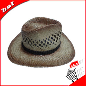 Printed Seagrass Straw Cowboy Promotional Hat pictures & photos