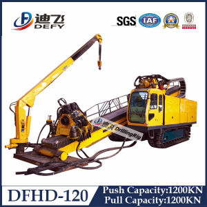 120t Full Hydraulic Horizontal Directional Drilling Rig with Crane pictures & photos