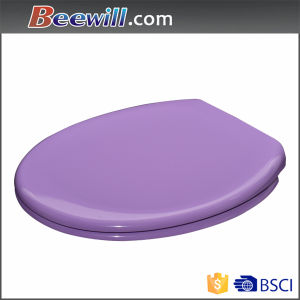 High Gloss Purple Toilet Seat with Soft Close Hings pictures & photos