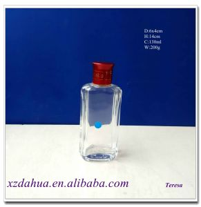 High Quality Square Glass Wine Bottle 130ml pictures & photos