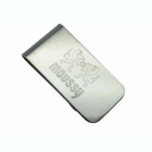 Metal Money Clip with Laser Engraved Logo pictures & photos
