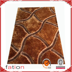 Popular Handmade Polyester Area Rug Bedroom Shaggy Carpet pictures & photos