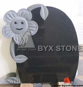 Black Granite Carved Flower Monument / Infant Headstone pictures & photos