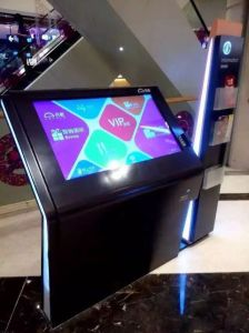Floor Standing 27 Inch LCD Touchscreen Panel Touch Screen Monitor Kiosk pictures & photos