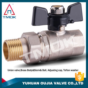 Brass Ball Valve with Moved Connector Aluminum Handle