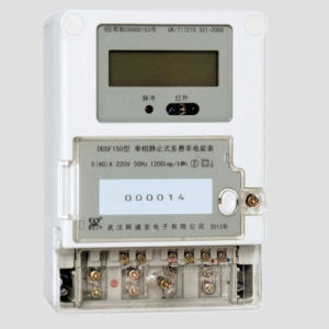 LED Backlit Single-Phase Electrical Multi-Rate Smart Watt Meter pictures & photos